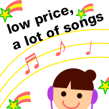 low price ,a lot of songs