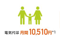 電気代月間10,510円※1