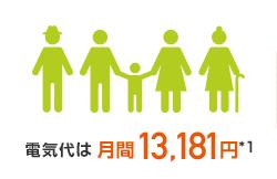 電気代月間13,181円※1