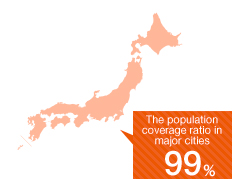The population coverage ratio in major cities 99%