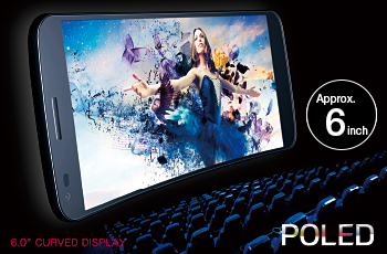 Approx. 6-inch curved display offers an immersive cinematic viewing experience for Full Seg broadcasts