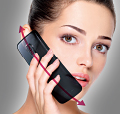 Follows natural curvature of face between ear and mouth, improving posture