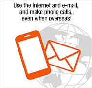 Use the Internet and e-mail, and make phone calls, even when overseas!