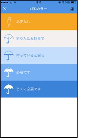 画像:LED色の説明画面