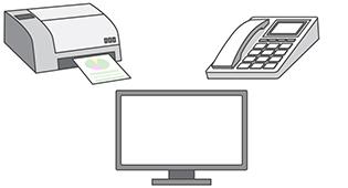 「オプションメニュー」では、プリンターやスキャナーなどのオプション品やセキュリティソフトの設定を行います。