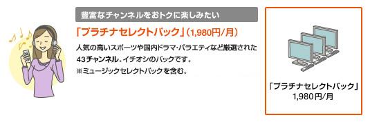 「プラチナセレクトパック」(1,980円/月)