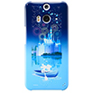 HTC J butterfly HTL23 ハードカバー/Disney pass Castle-Blue