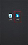 ⑦ 「Skype for Android™」アプリのダウンロードが完了します。