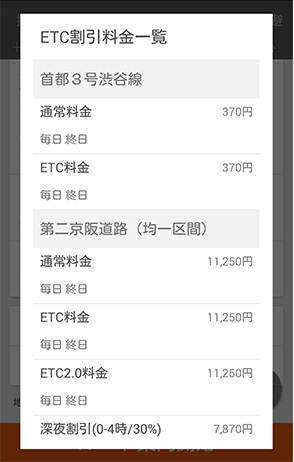 画面: ETC割引料金