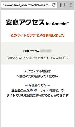 画面:Webフィルタリング機能