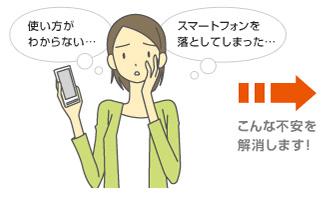 使い方が分からない・・・スマートフォンを落としてしまった・・・こんな不安を解消します!