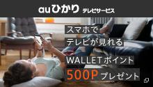 WALLETポイント500Pプレゼント